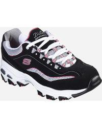 Ashley Stewart Skechers D'lites Life Saver Sneaker - Black