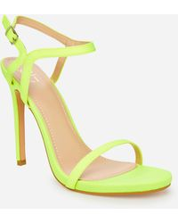 Ashley Stewart Shirley Ankle Strap Medium Width Sandals - Green