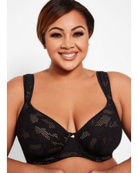a5bc9a47af0 Ashley Stewart - Plus Size Full Coverage Plunge Butterfly Bra - Lyst