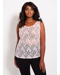 c41379a9e9615 Lyst - Charlotte Russe Plus Size Embroidered Mesh Choker Neck ...