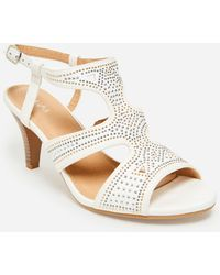 Ashley Stewart Sole Lift Wide Width Cutout Sandal - White