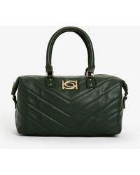 Ashley Stewart Bebe Levi Quilted Satchel - Green