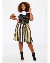 Ashley Stewart - Plus Size Multi Striped Godet Skirt - Lyst