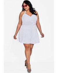 343168d27b83 Lyst - Ashley Stewart Plus Size The Valerie Romper in Black
