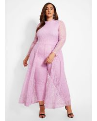 f9e408d93a59 Ashley Stewart - Plus Size Lace Jumpsuit With Skirt Overlay - Lyst
