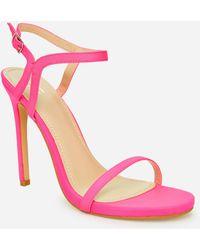 Ashley Stewart Shirley Ankle Strap Medium Width Sandals - Pink