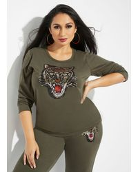 Ashley Stewart Plus Size The Asha Sweater - Green