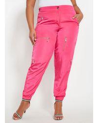 Ashley Stewart - Plus Size Nylon Zip Detail Active Jogger - Lyst