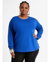 Ashley Stewart Fila Treasure Long Sleeve Tee - Blue