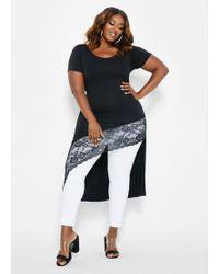 d6afa10b Ashley Stewart - Plus Size Short Sleeve Lace Trim Duster - Lyst