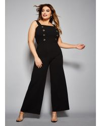 ca95d1bc945d Lyst - Ashley Stewart Plus Size The Gina Jumpsuit in Black