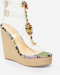 Ashley Stewart Jeweled Medium Width Wedges - Metallic