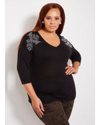 1f310da842 Lyst - Ashley Stewart Plus Size Faux Leather Knot Front Tube Top in ...