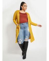 Ashley Stewart - Plus Size Jersey Knit Duster Cardigan - Lyst