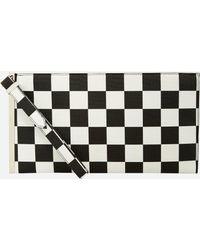 Ashley Stewart - Checkered Print Wristlet Clutch - Lyst