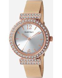 Ashley Stewart Plus Size Stone-embellished Mesh Watch - Multicolor