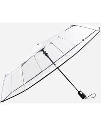 Ashley Stewart Totes Ultra Clear Auto Open Folding Umbrella - Multicolor