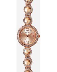 Ashley Stewart Plus Size Timeless Rose Gold-tone Diamond Watch - Pink