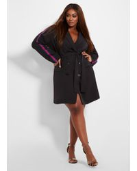 49818dd3ce3 Ashley Stewart - Plus Size Trench Coat With Side Stripe - Lyst