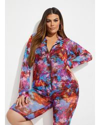 Ashley Stewart Plus Size The Michelle Hoodie - Red