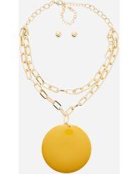 Ashley Stewart - Plus Size Pendant Necklace Set - Lyst