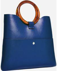 Ashley Stewart Vegan Leather Mini Tote - Blue
