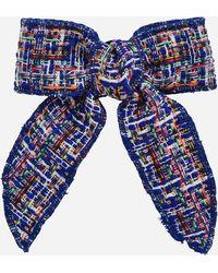 Ashley Stewart - Plus Size Tweed Bow Tie Pin - Lyst