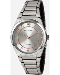 Ashley Stewart Plus Size Timeless Silver-tone Diamond Watch - Metallic