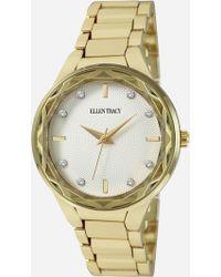 Ashley Stewart Plus Size Timeless Gold-tone Multi-stone Watch - Metallic