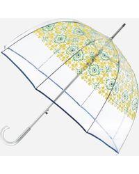 Ashley Stewart Totes Ornate Bubble Umbrella - Yellow