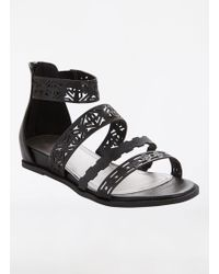 Ashley Stewart - Patterned Strappy Flat Sandal - Wide Width - Lyst