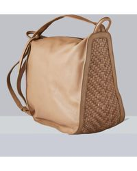 Ashley Stewart Kooba Tan Calabasas Convertible Backpack - Brown