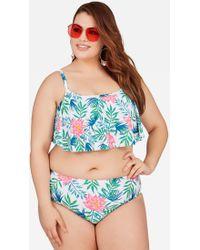 24fa51f69c Lyst - Ashley Stewart Plus Size Strappy Halter Bikini Top in Black