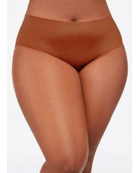 37cc98a974 Lyst - Ashley Stewart Plus Size Textured Seamless Bikini Panty in Black