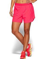 Asics 2-in-1 5,5 Inch Hardloopshort Voor Dames - Roze