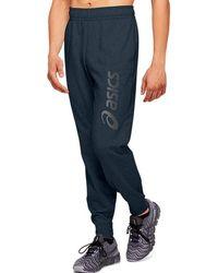 Asics Big Logo Sweat Pant - Blue