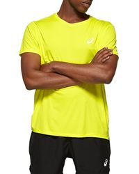 Asics Silver Ss Top - Yellow