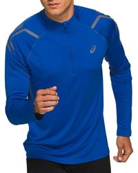 Asics Icon Ls 1/2 Zip Top - Blauw