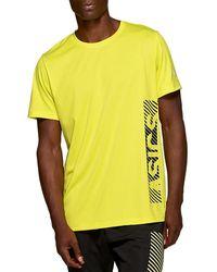 8e784cef1b Asics Esnt Gpx Short Sleeve Top in Black for Men - Lyst