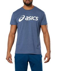 Asics Sport Logo Tee - Blauw