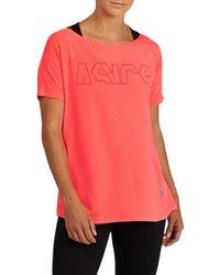 Asics Sport Print Outline Tee - Pink