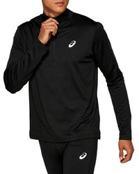 Asics Silver Ls 1/2 Zip Winter Top - Zwart