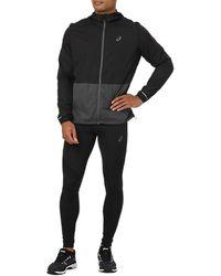 Asics Packable Jacket Dark Grey - Noir