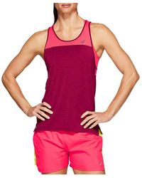 Asics Loose Strappy Tank Chili Flake - Rose
