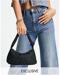 Glamorous Exclusive Shoulder Bag With Twist Knot Strap Detail - Black