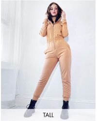 Missguided Hooded Jumpsuit - Multicolor