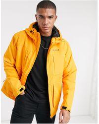Nicce London – Meson – Wattierter Mantel mit durchgehendem Reißverschluss - Orange