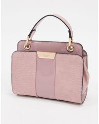 Dune Diniliza Textured Highshine Structured Shoulder Bag - Pink