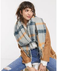 Y.A.S Brushed Blanket Scarf - Grey