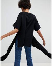 ASOS - Organic Mix Drop Hem Jersey T-shirt - Lyst